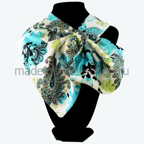 Французский платок голубой Paisley Vintage Lazur