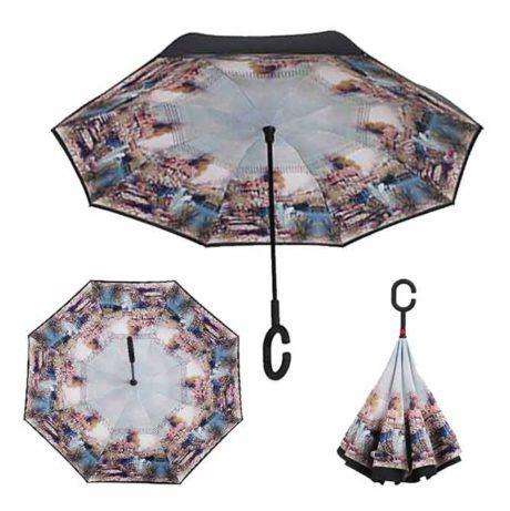 Зонт наоборот антизонт Up Brella Seasons Swan