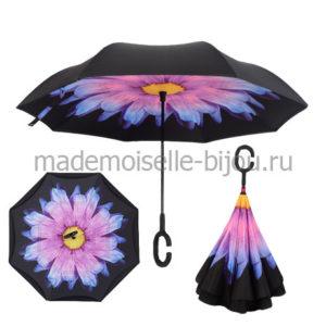 Зонт наоборот антизонт Up Brella Purple Flower