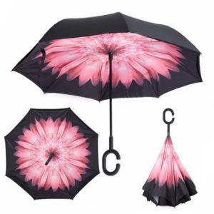 Обратный зонтик UmBrella Rose Flower
