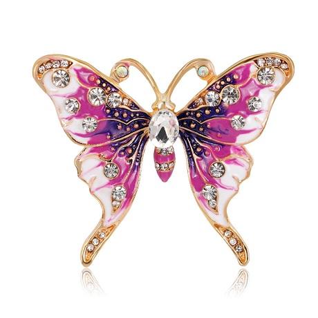 Брошь бабочка эмаль
