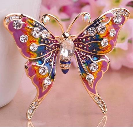 Брошка бабочка Butterfly Enamel Purple