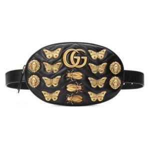 Поясная сумочка GG Marmont Animals черная