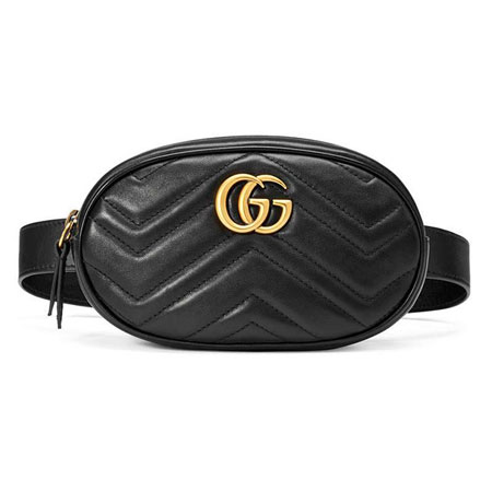 Поясная сумка GG Marmont черная