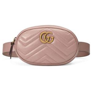 Сумочка на пояс GG Marmont розовая