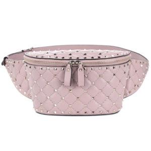Сумка на пояс Валентино розовая