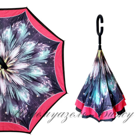 Зонт наоборот антизонт UpBrella Mint Sparks