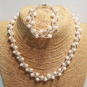 Комплект из натурального жемчуга Odri Portofino White